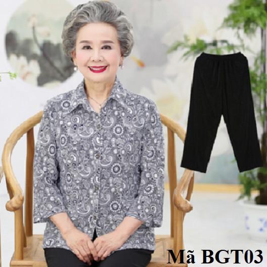 Bộ đồ mặc nhà dành cho người lớn tuổi bgt03k