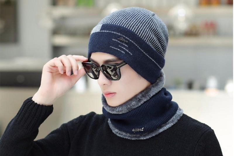 Mũ nón len lót lông siêu dày