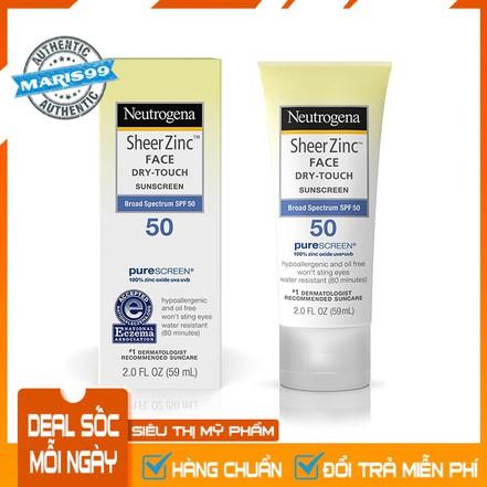 Kem Chống Nắng Neutrogena Sheer Zinc Face SPF50