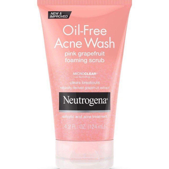 Sữa Rửa Mặt Neutrogena Oil Free Acne Wash Pink Grapefruit Scrub (124ml) - 100% Authentic