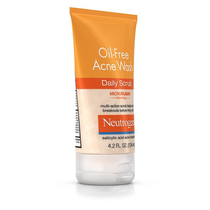 Sữa Rửa Mặt Neutrogena Oil Free Acne Wash Daily Scrub (124ml) - 100% Authentic