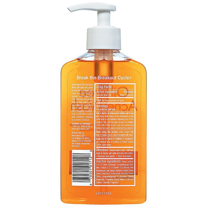 Sữa Rữa Mặt Neutrogena Oil Free Acne Wash (269ml) - 100% Authentic
