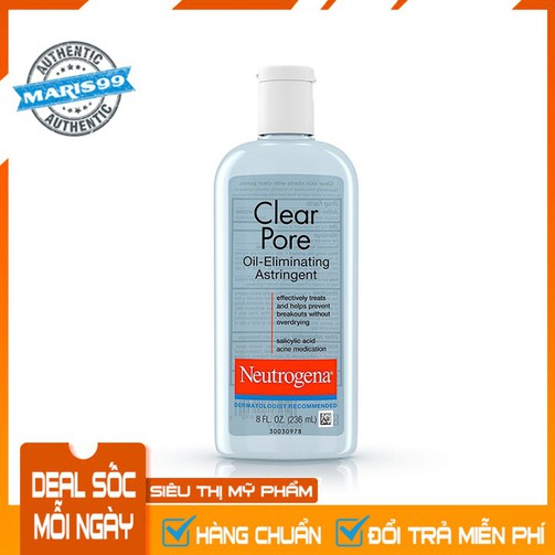 NƯỚC HOA HỒNG NEUTROGENA CLEAR PORE OIL ELIMINATING ASTRINGENT