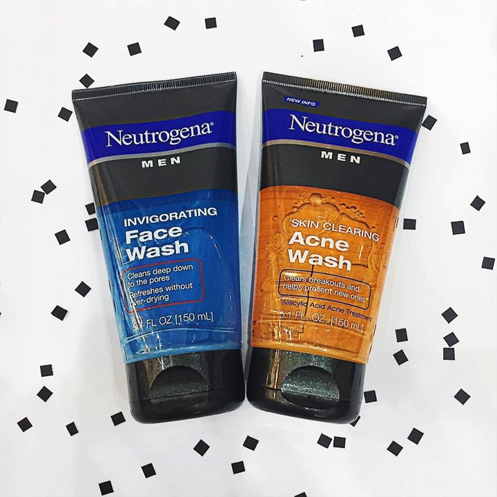 Sữa Rữa Mặt Cho Nam Neutrogena Men Invigorating Face Wash (150ml) - 100% Authentic