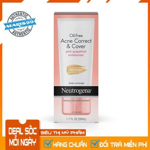 Kem Dưỡng Da Có Màu Neutrogena Oil Free Acne Correct & Cover Pink Grapefruit Moisturizer - 100% Authentic