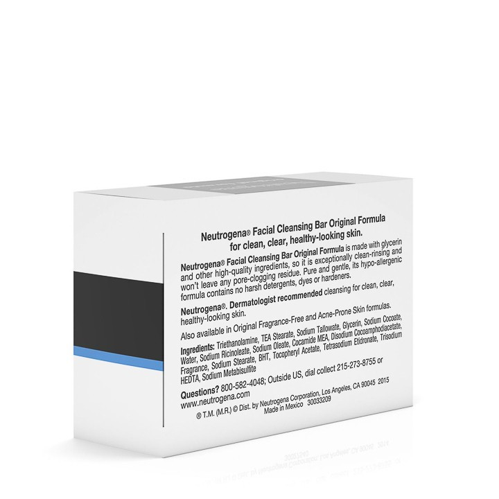 Xà Phòng Neutrogena Original Formula Facial Cleansing Bar (99g) - 100% Authentic