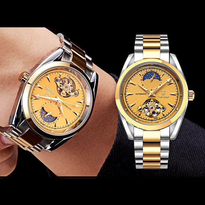 Đồng hồ cơ chính hãng Tevise, có bảo hành, sang trọng, đẳng cấp