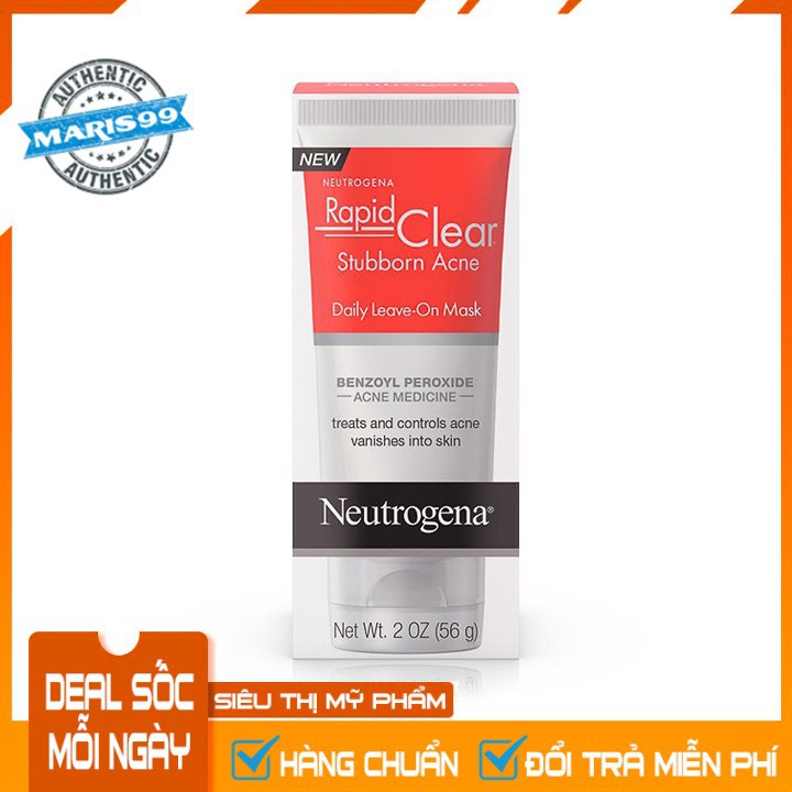 Trị Mụn Neutrogena Rapid Clear Stubborn Acne Daily Leave On Mask (56g) - 100% Authentic