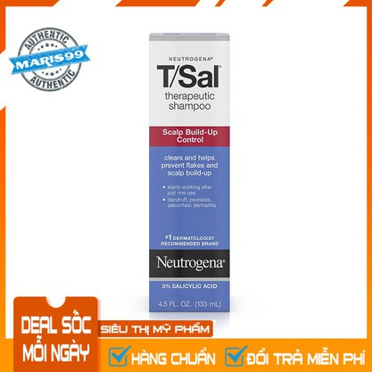 Dầu Gội Đầu Neutrogena TSal Therapeutic Shampoo Scalp Build Up Control 133ml