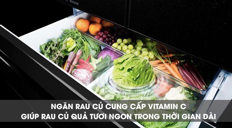 Ngăn chứa tăng cường Vitamin C - Tủ lạnh Mitsubishi Electric Inverter 564 lít MR-LX68EM-GBK-V