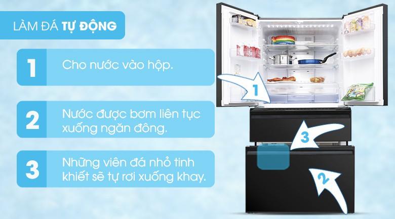 Làm đá tự động - Tủ lạnh Mitsubishi Electric Inverter 564 lít MR-LX68EM-GBK-V