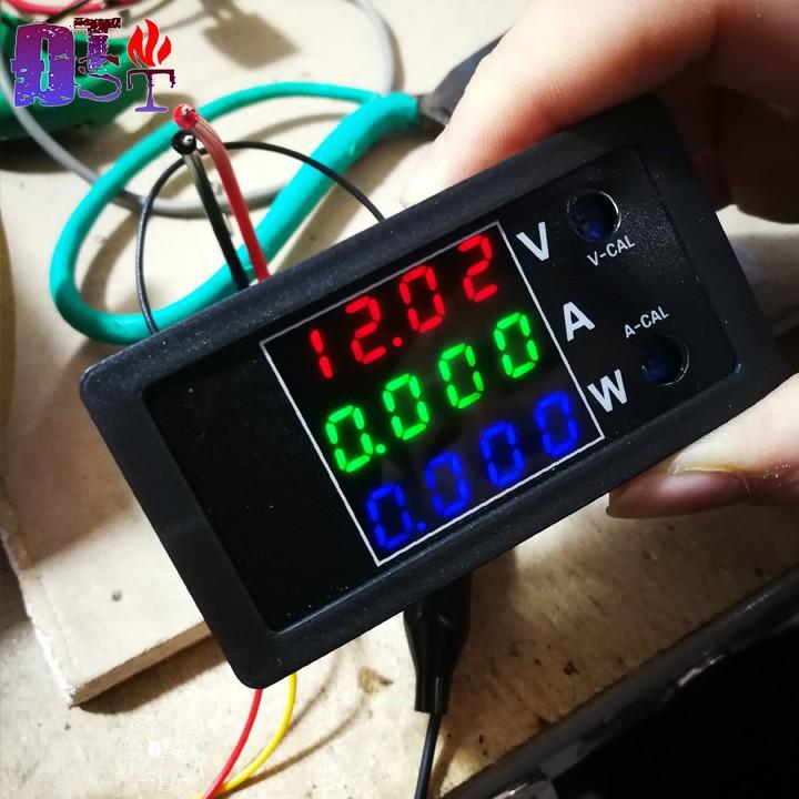 Đồng hồ đo điện áp DC 0 - 100V dòng điện đo tối đa 10A