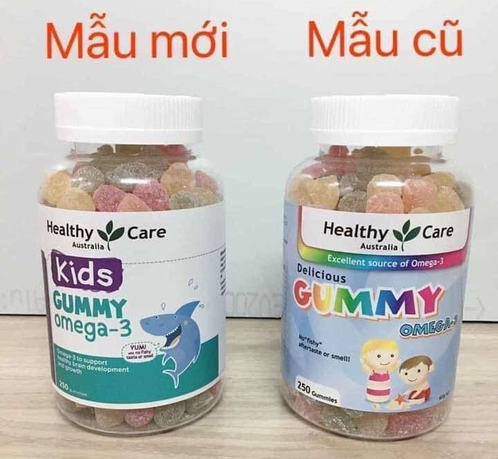 Kẹo Gummy Healthy Care Omega3 250 Viên