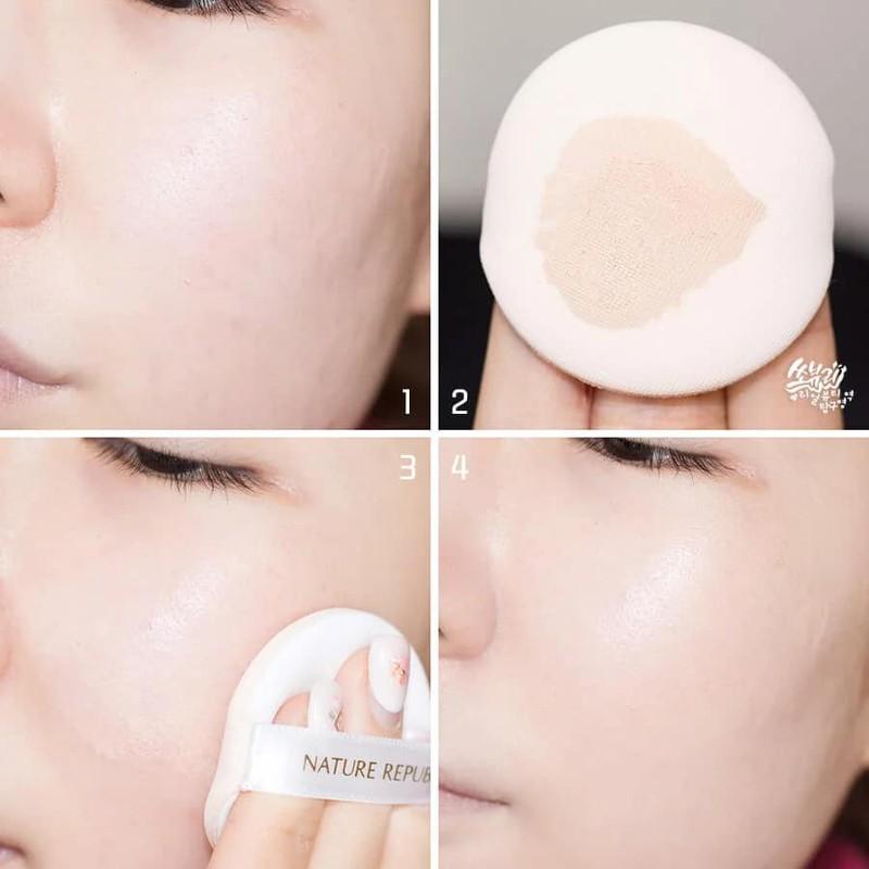 Kem chống nắng Nature Republic Ice Sun SPF50 vừa làm kem lót trang điểm giúp lên tone da trắng hồng