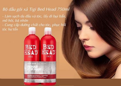 Cặp Dầu gội xả Bed Head Tigi đỏ phục hồi tóc hư tổn, lấy lại độ đàn hồi cho tóc