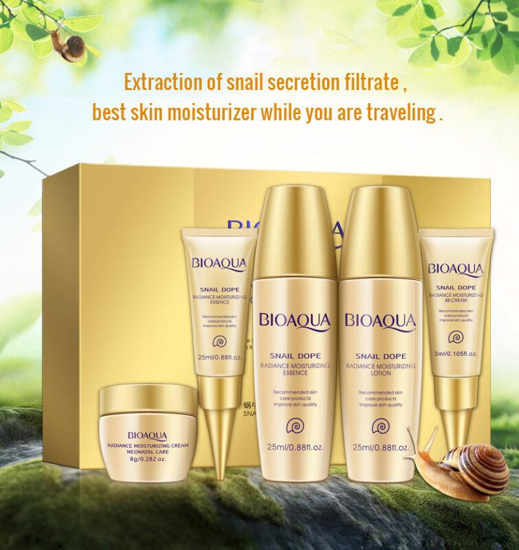 Bộ sản phẩm tinh chất ốc sên Bioaqua (5 sản phẩm)