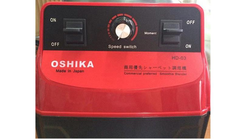 Bảng điều khiển của Máy xay sinh tố công nghiệp OSHIKA HD03