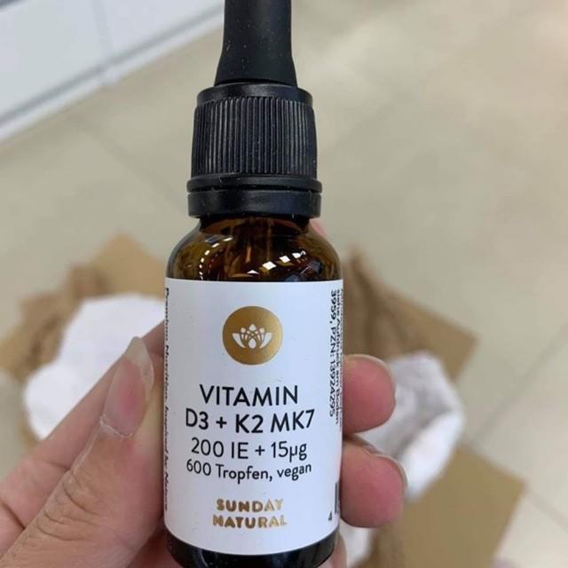 Vitamin D3 K2 MK7 Sunday Natural Tăng Chiều Cao Cho Bé