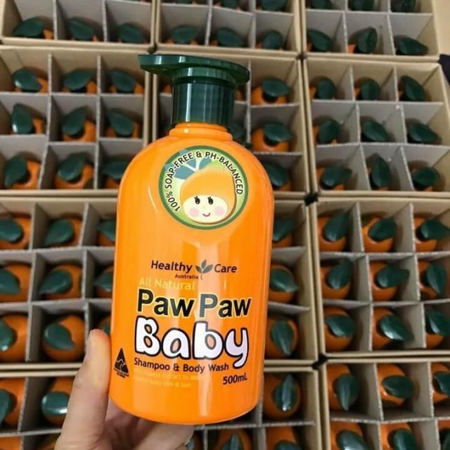 Sữa tắm gội Paw Paw Baby Healthy Care chiết xuất từ đu đủ tự nhiên