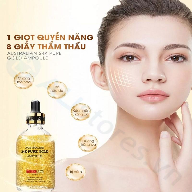 Tinh chất dưỡng da vàng 24K TheraLady Australian 24k hỗ trợ trẻ hóa làn da