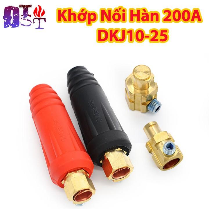 Khớp Nối Hàn 200A DKJ10-25 1 cặp Đỏ - Đen