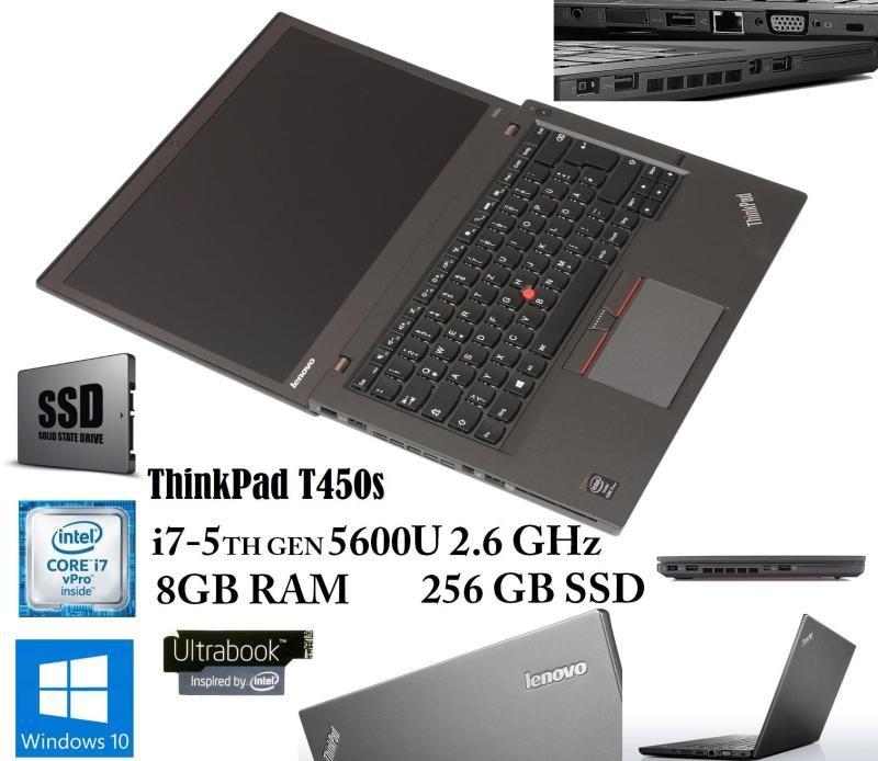 IBM. Lenovo Thinkpad. T450s i7 5600 14in FullHD IPS RAM 8GB SSD 256GB - 4