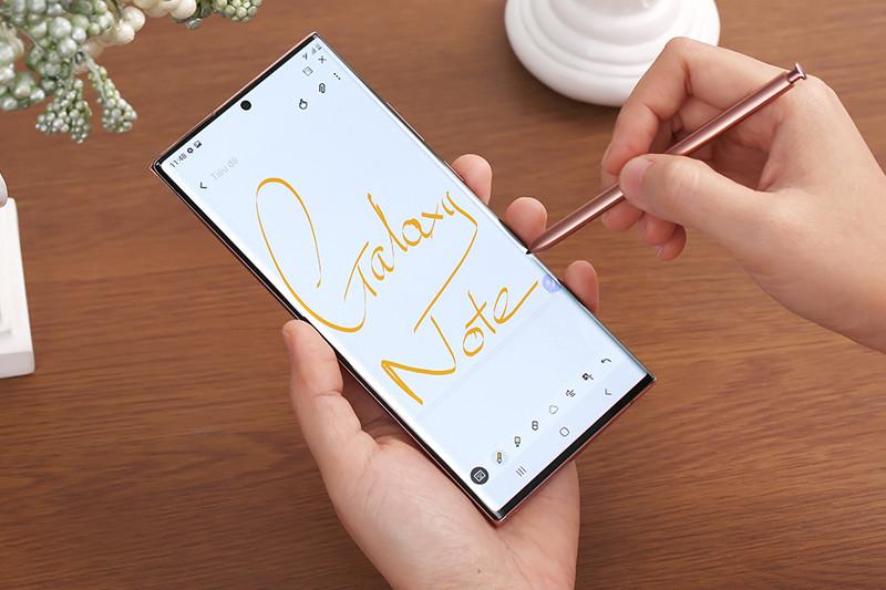 Test bút S Pen trên điện thoại Samsung Galaxy Note 20 Ultra 5G