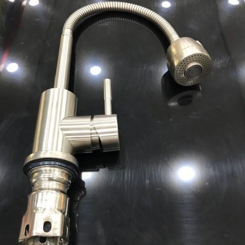 Vòi rửa chén nóng lạnh lò xo Inox 304 MAS