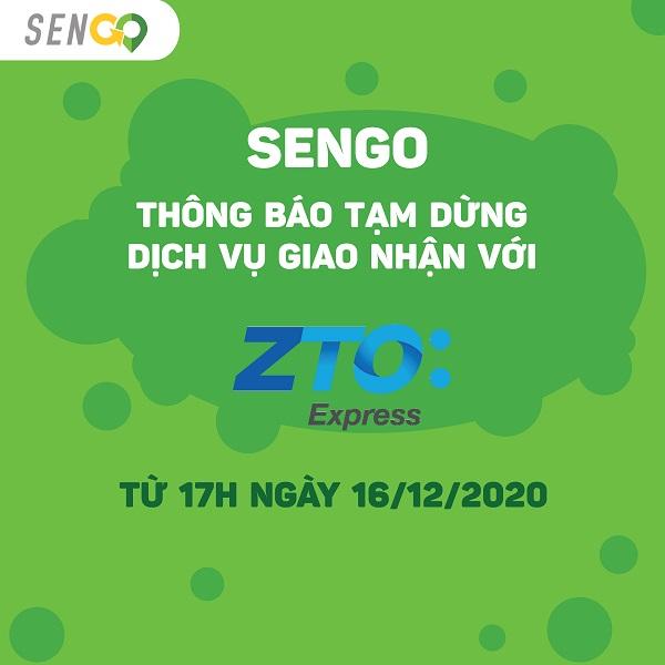 SENGO TẠM DỪNG DỊCH VỤ ZTO EXPRESS