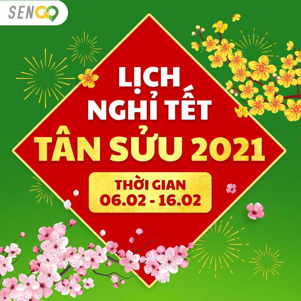 LỊCH NGHỈ TẾT NGUYÊN ĐÁN - TÂN SỬU 2021