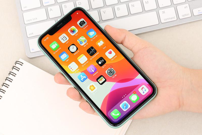 Điện thoại iPhone 11 128GB | Cụm camera phía trước ở tai thỏ