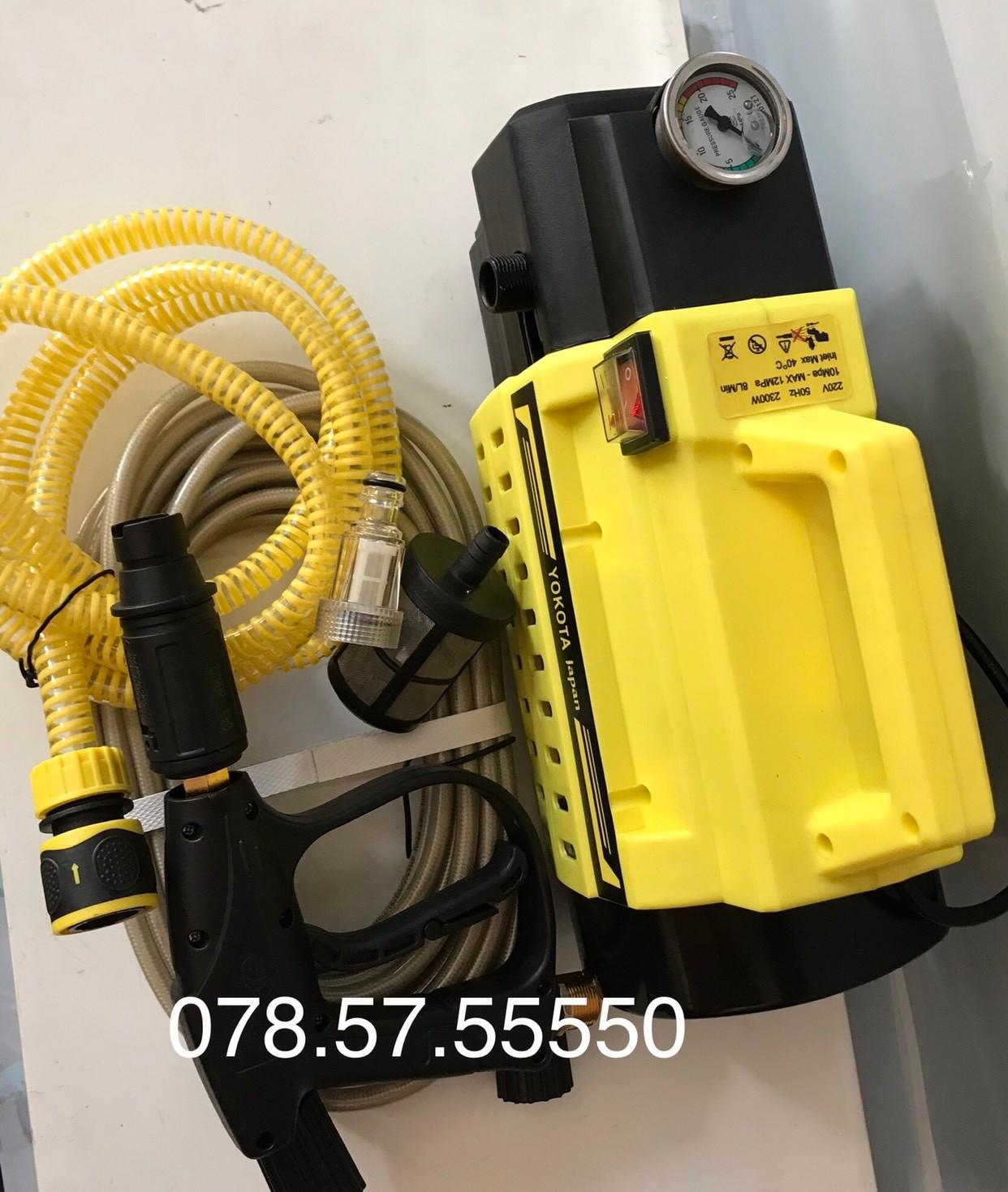 Máy rửa xe S3 YOKOTA 2300W Dây8M, Giá tháng 1/2021
