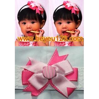 Băng đô vải ren Hoa Ru Băng hồng - 027A
