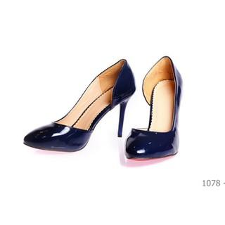 Me Girl Shoes - Giày cao gót 6 phân khoét 1 bên màu xanh cực quyến rũ