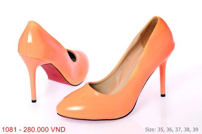 Me Girl Shoes - Giày cao gót 7 phân màu cam cực nổi bật và ấn tượng