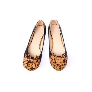 Giày búp bê siêu êm không đau chân không rớt gót màu đen nơ cực xinh
