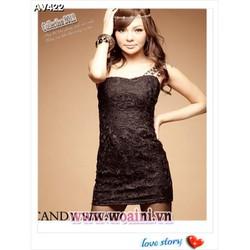 Váy đầm ren dạo phố korea Mã: AV422