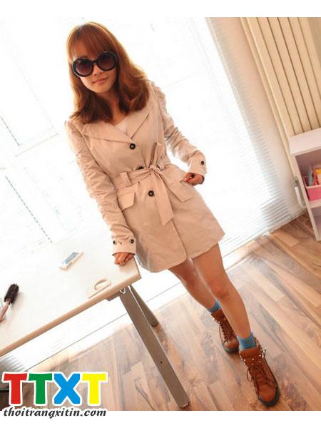 áo khoác măng tô nữ korea Mã: AO0879