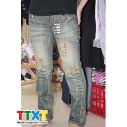 quần jeans dài nữ cá tính Mã: QD187
