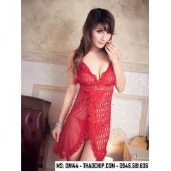 Đầm ngủ quyến rũ ren, thun lưới DN144