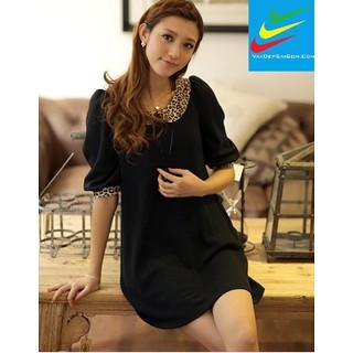 Váy Đẹp Sài Gòn- ĐẦM BABYDOLL VIỀN DA BEO