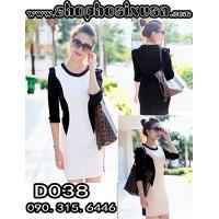D038 - Đầm thời trang cách điệu tay dài