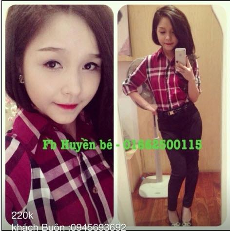 ao so mi ke soc thoi trang 1m4G3 ao so mi burburry soc do 2 Áo sơ mi nữ Hàn Quốc style sành điệu cho bạn gái