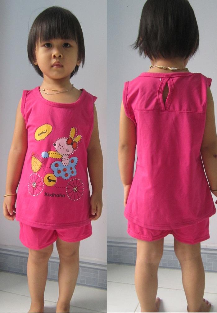 Áo thun cho bé gái 1 - 8 tuổi