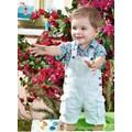 Bộ yếm kèm áo bé trai BB498