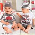 Bộ áo quần kèm nón bé trai BB676