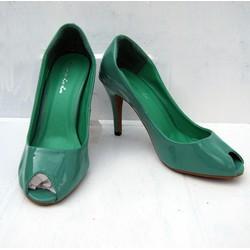 Giày cao gót thời trang dành cho bạn nữ xinh xắn NU985-GREEN
