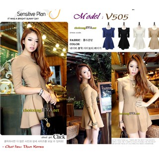 Model No: V505 -Váy liền  V505