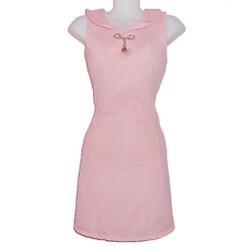 Đầm suông thun cổ sen, khoét ngực nhẹ nhàng TT-24