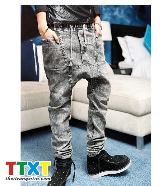 quần jeans nam đáy thụng korea Mã: ND0218 - 1